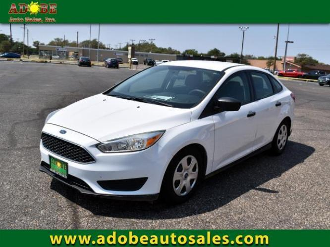 2016 Oxford White /Charcoal Black Ford Focus 4dr Sdn S (1FADP3E21GL) with an 4 Cylinder Engine engine, Automatic transmission, located at 4711 Ave Q, Lubbock, TX, 79412, (806) 687-2362, 33.551304, -101.855293 - Photo #0